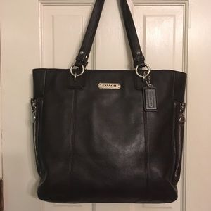Coach Gallery Choc Brown leather tote shoulder bag